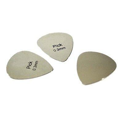 Metal Guitar Pick 0.3mm Thin for Starter Professional Bass Ukelele*Guitar caTO 8