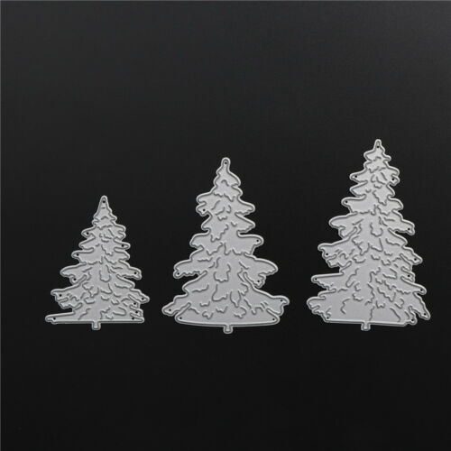 3x Weihnachtsbaum Metall Stanzformen für DIY Scrapbooking Fotoalbum Decor
