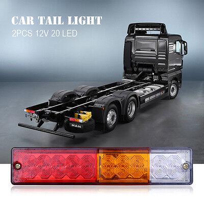 2X 20 LED Arrière LED Lumière Feux Arrête Indicateur Lampe Remorque Camion Van 6