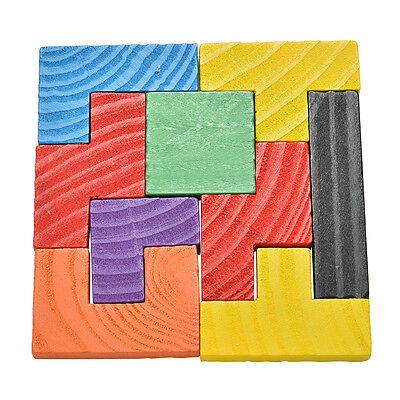 155 pcs Bois Modèle Blocs Casse tête en Forme Tangram