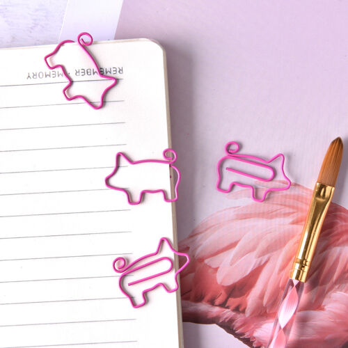 4X Pig Pink Bookmark Paper Clip School Office Supply Escolar Gift Stationery LE 2