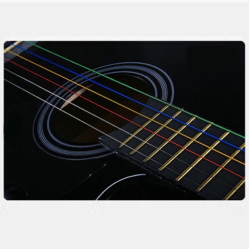 NEW One Set 6pcs Rainbow Colorful Color Strings For Acoustic Guitar  AccessoryGG 6