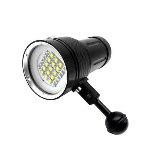 Tauchen Licht Unterwasser Video LED Fotografie Taschenlampe Lampe W gs eo