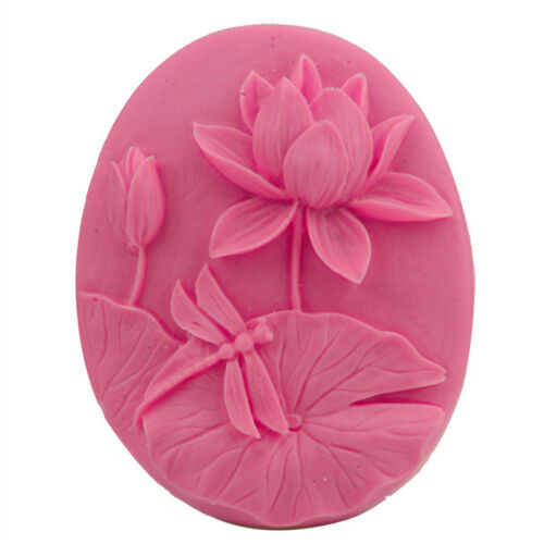 Schöne Lotus handgemachte Seife Kerze Form Kuchen Schokolade Candy Mold Backen