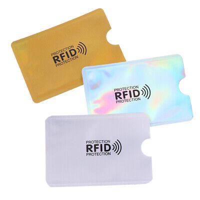 10X Credit Card Protector Secure Sleeve RFID Blocking ID Holder Foil Shield EL 4