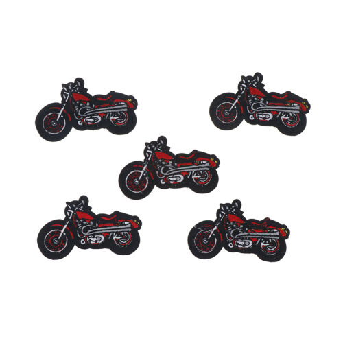 1X Cartoon Motorcycle Embroidered Iron On Patch Applique For Clothing Jacket ah 2