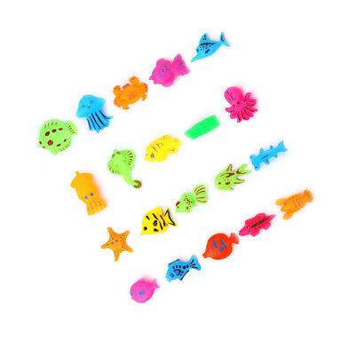 40 teilig Magnet Angelspiel Wasserspiel Set Fischen Angeln Spielzeug Lernspiel ❤