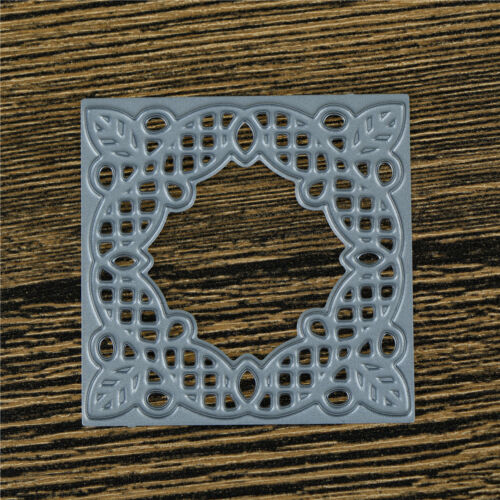 Square Hollow Lace Metal Cutting Dies For DIY Scrapbooking Album Paper CardGT 6