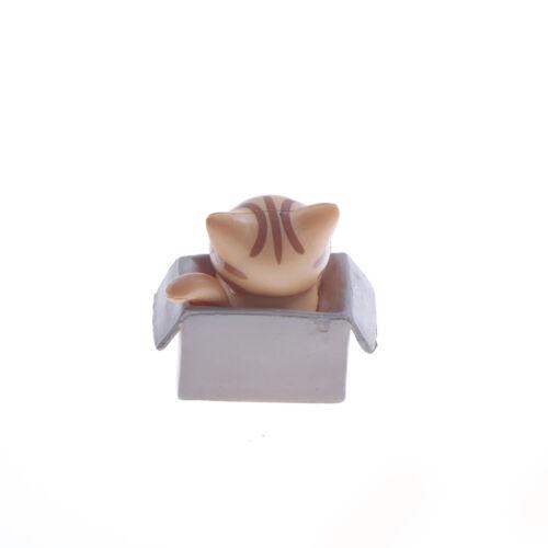 Mini Katze Haustier Statue Garten Ornament Miniatur Figur Harz ZP