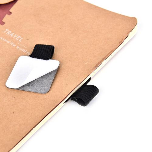 Selbstklebende PU-Leder Stifthalter Clip Stift Traveler Tagebuch Fitting FL