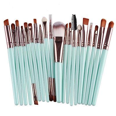 20pcs Makeup Brush Set Powder Foundation Eyeshadow Eyeliner Lip Brushes Tool Kit 10