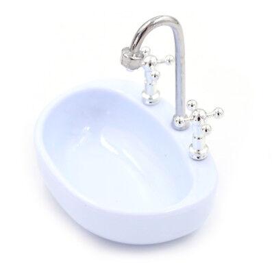 Miniatur Puppenhaus Legierung Waschbecken Badezimmer Waschbecken Spielz S`