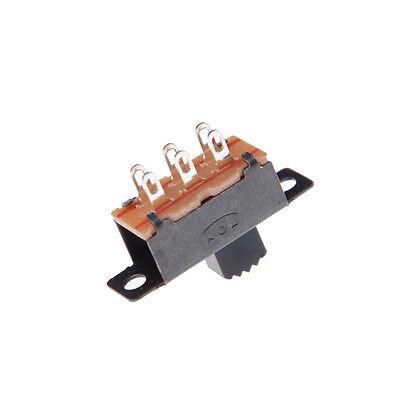10 Pcs 2 Position DPDT 2P2T Panel Mount Vertical Slide Switch 6 Pin 0.5A 50BICA