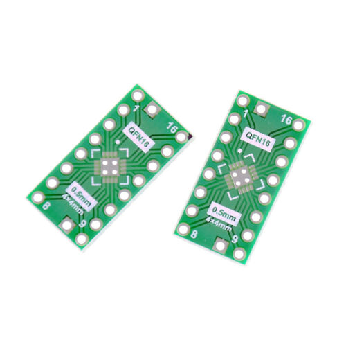 10 PCS QFN16 Pin Pitch 0.65mm 0.5mm to DIP16 Adapter PCB Board Converte nh