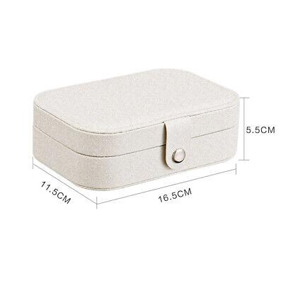 Portable Travel Jewelry Box Organizer Leather Jewellery Ornaments Case Storage A 3