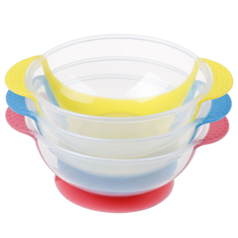 1Pc Baby cutlery kids children non-slip suction bowl sucker bowl feeding9UKHGUK