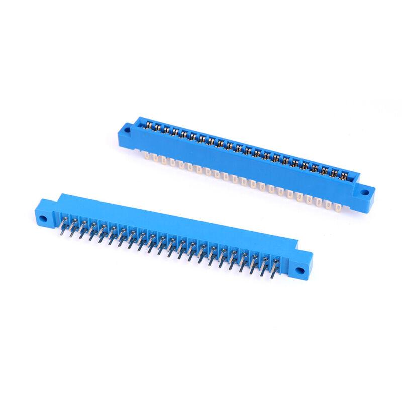1x PCB card edge connector dual 2 X 22 PIN 44 Pin 3.96mm gold slot soldersocketM