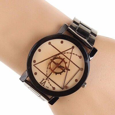 Fashion Luxury Men Women Compass Watch Stainless Steel Quartz Analog Wrist Watch 8