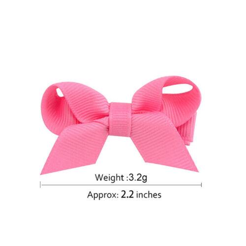 20PCS Baby Girls Hair Bows Boutique Alligator Clip Grosgrain Ribbon Hairpins LS 3