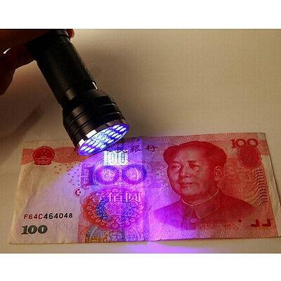 UV Ultra Violet 21 LED Flashlight Mini Blacklight Aluminum Torch Light Lamp  new 2
