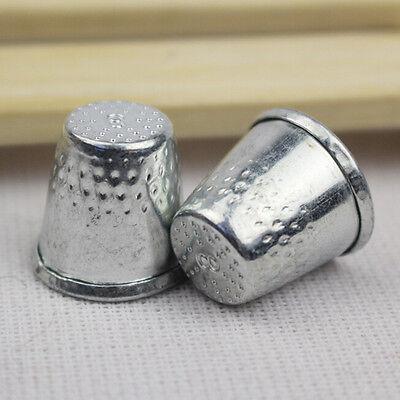 10 Dressmakers Vintage Metal Finger Thimble Protector Sewing Neddle Shield#SM