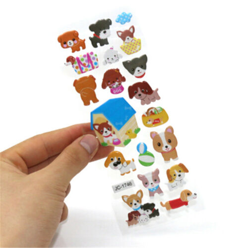 5sheets 3D Bubble Sticker Toys Children Kids Animal Classic Stickers Gift YEG 7