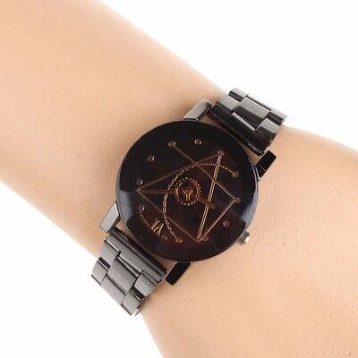 Fashion Luxury Men Women Compass Watch Stainless Steel Quartz Analog Wrist Watch 7