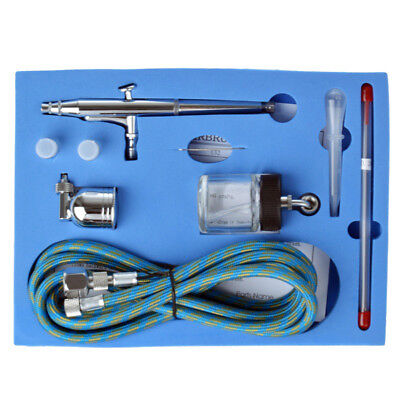 0.2mm/0.3mm /0.5mm Dual Action Air Brush Spray Gun Airbrush Kit Art Paint Crafts 2