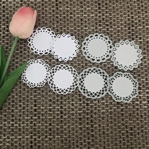 Round lace Design Metal Cutting Die For DIY Scrapbooking Album Paper Card 5