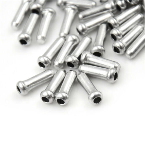 100x Silver Aluminum Bicycle Brake Shifter Inner Cable Tip Wire End Cap Crimp RS