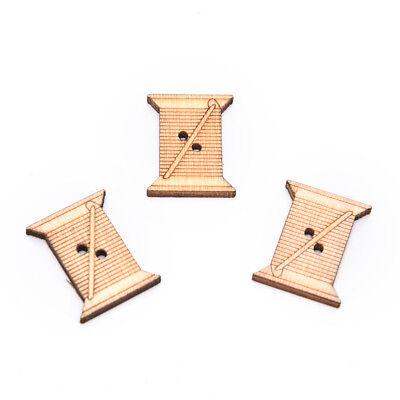 50X herramienta de coser de madera hecho a mano botón de Scrapbooking carft_C