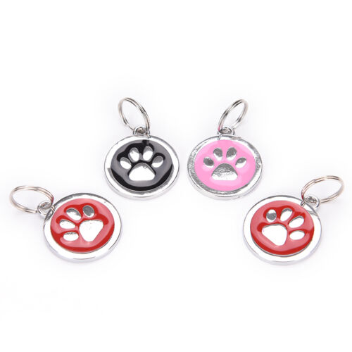 Personalised Dog Tags Engraved Cat Puppy Pet ID Name Collar Tag Bone Paw Glit MC 2