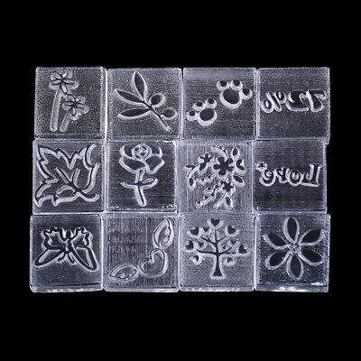 Acrylic Natural Word Handmade Clear Soap Stamping Stamp Seal Mold Craft DIY SR