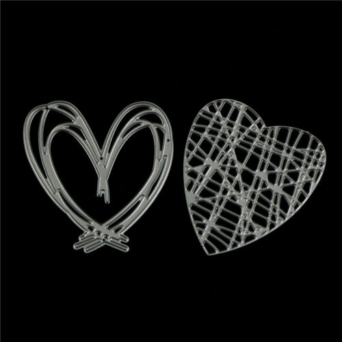 4Pcs Love Stripe Design Metal Cutting Dies For DIY Scrapbooking Album Paper TE 6