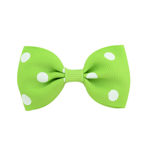 20Pcs Baby Girls Dot Hair Bows Band Boutique Alligator Clip Grosgrain Ribbon BS 2