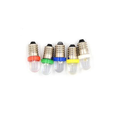 5x faible consommation d/'énergie E10 LED indicateur base vis ampoule DC Light TR