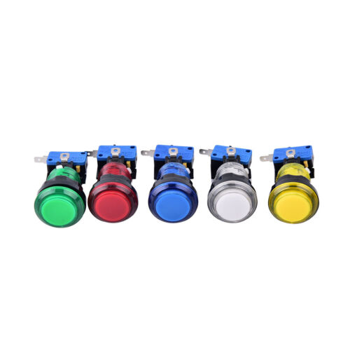 10X Round Lit Illuminated Arcade Video Game Push Button Switch LED Light 5V T3X6
