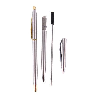 1pc Metal Ballpoint Pen Stationery Stainless Steel Rod Rotating Pen BallpenPDH 8