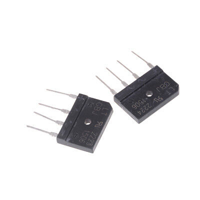 2PCS GBJ1506 Full Wave Flat Bridge Rectifier 15A 600V