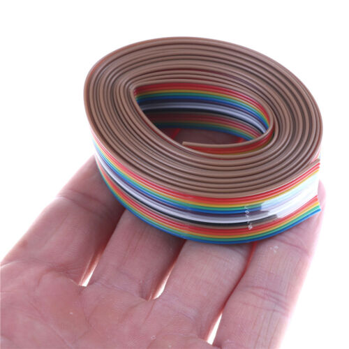Dupont Line 2M 1.27mm Pitch 16 Pin Flat IDC Ribbon Extension Cable Wire FO