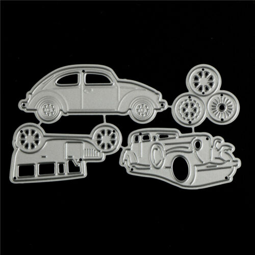 4pcs Classic Cars Metal Cutting Dies For DIY Scrapbooking Album Paper Card Cw 3
