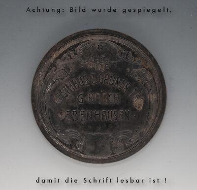 Stempelplatte GASTHAUS Z. GRÜNEN TAL G. KARCH EBENHAUSEN wohl um 1910 3