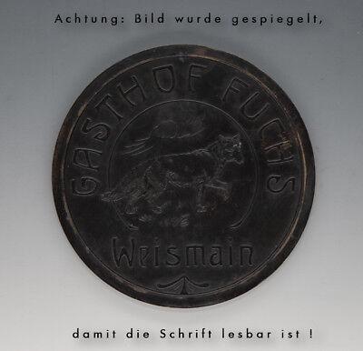 Stempelplatte für Brauereikrüge GASTHOF FUCHS Weismain wohl um 1910 3