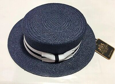 New Men's Bruno Capelo Hat Straw Boater Gatsby barbershop skimmer Fashion Colors 5