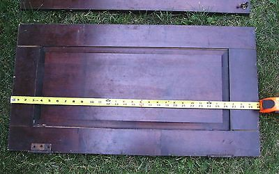"""Antique Vintage Pair Cabinet Doors from Old School Chemistry Lab 30"""" Tall 6"""