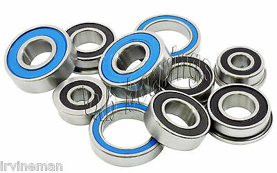 Rubber Sealed Ball Bearing Bearings Set FOR HPI MICRO RS4 RTR 3 BLUE