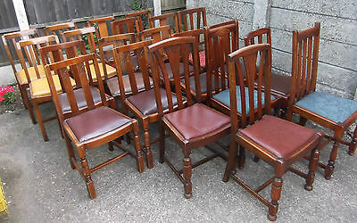LARGE COLLECTION OF OAK 1920s DINING CHAIRS- IDEAL FOR PUBS, RESTAURANTS ETC 7