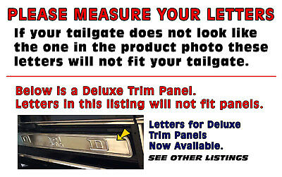 TAILGATE LETTERS TR100 1953-72 FORD STEPSIDE//FLAIRSIDE TRUCK F100 SERIES