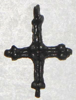 Medieval Norman Period Bronze Cross Crucifix Pendant c.1000 Norse Amulet Viking 2