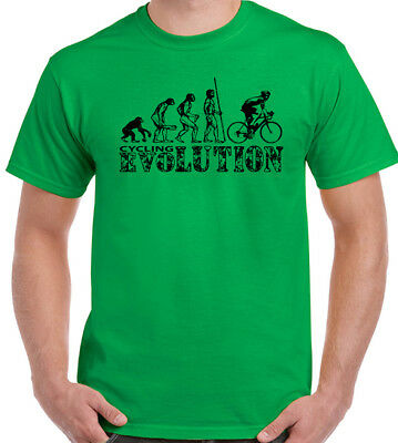 Cycling Evolution Mens Funny T-Shirt Cyclist Bike Bicycle MTB BMX Racer Road